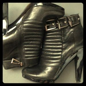 7ForAllManKind 8.5M Blk Leather Bootlets
